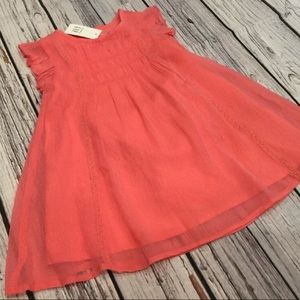 Baby Gap Girls Coral Pink Flowing Dress & Bloomers